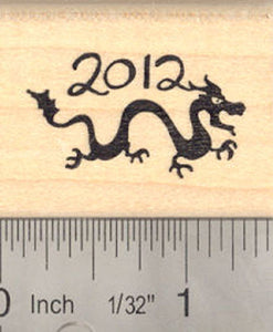 Year of the Dragon 2012 Rubber Stamp