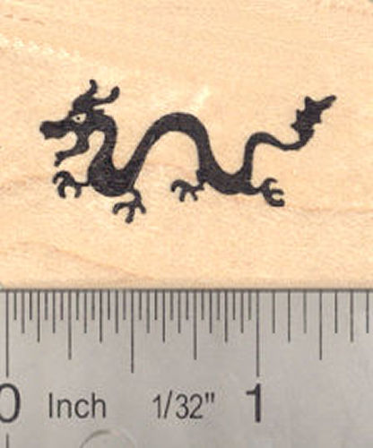 Small Chinese Dragon Rubber Stamp