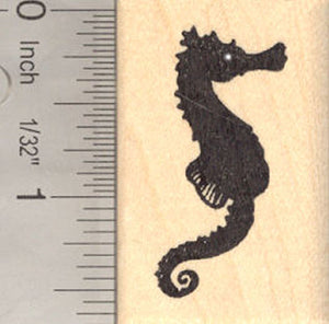Seahorse Silhouette Rubber Stamp, Sea Horse