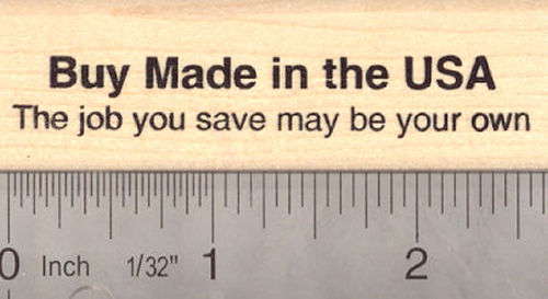 Buy Made in the USA Rubber Stamp, American Jobs