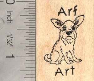 Arf Art Little Dog Rubber Stamp