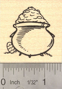 Easter Pot of St. Patrick's Day Gold, Dual Holiday Rubber Stamp