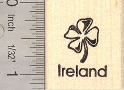 Ireland Shamrock Rubber Stamp