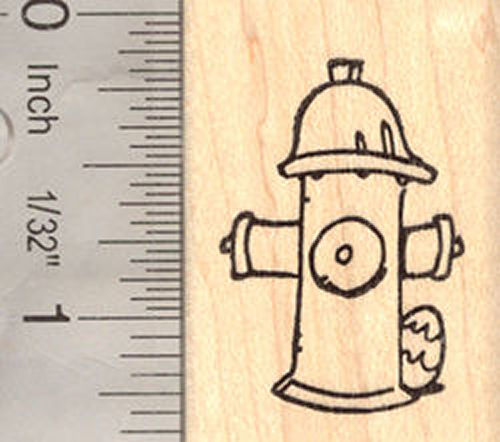 Easter egg hun Fire Hydrant Rubber Stamp