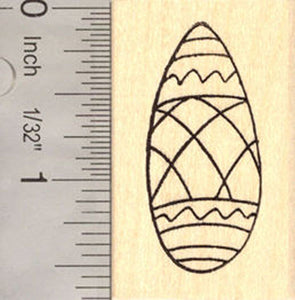 Fancy Easter Egg Rubber Stamp