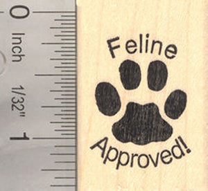 Feline Approved Rubber Stamp for Cat Lovers