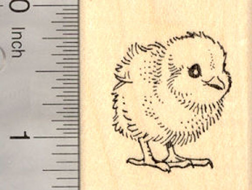Spring Chick Rubber Stamp, Easter