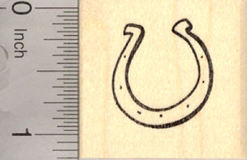 Small Horseshoe Rubber Stamp