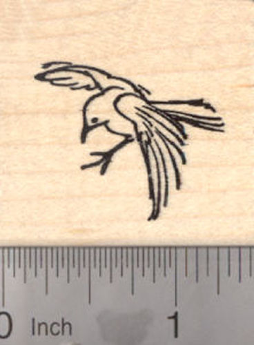 Bird in flight Rubber Stamp, Birds of a Feather