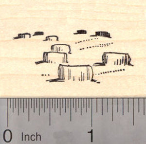 Straw Bales Rubber Stamp, Hay