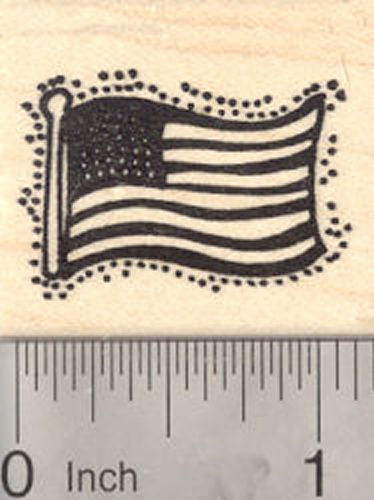 American Flag Rubber Stamp, Flag of the United States of America, USA