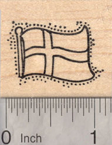 Flag of Denmark Rubber Stamp, Danish Flag, Scandinavian Cross