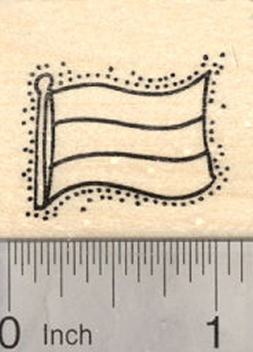 Flag of Hungary Rubber Stamp, Tricolor Flag