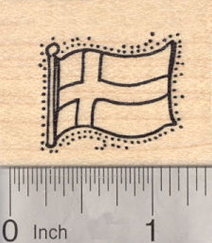 Flag of Sweden Rubber Stamp, Scandinavian Cross