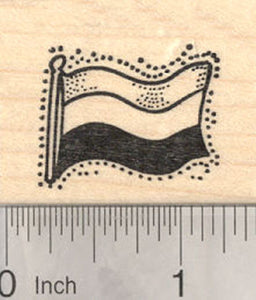 Flag of the Kingdom of the Netherlands Rubber Stamp, horizontal tricolour