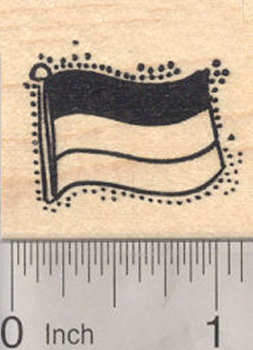 Flag of Germany Rubber Stamp, Bundesflagge und Handelsflagge, German, horizontal