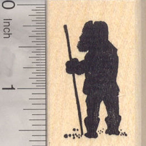 Eskimo Silhouette Rubber Stamp, Inuit-Yupik, Inuit, Indigenous Peoples of Siberia,