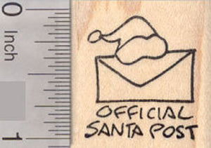 Official Santa Post Christmas Rubber Stamp (great for letters from Santa Claus!)
