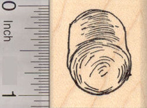 Round Hay Bale Rubber Stamp, Farm Animal Feed