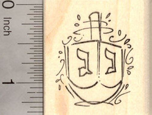 Hanukkah Dreidel Rubber Stamp, Chanukah Festival of Lights