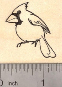Cardinal Bird Rubber Stamp