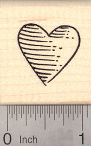Heart Rubber Stamp, Valentine's Day