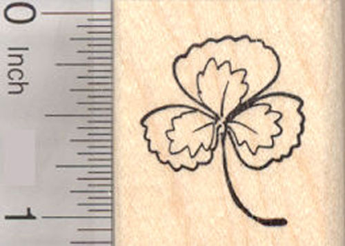 Shamrock, St. Patrick's Day Clover Rubber Stamp