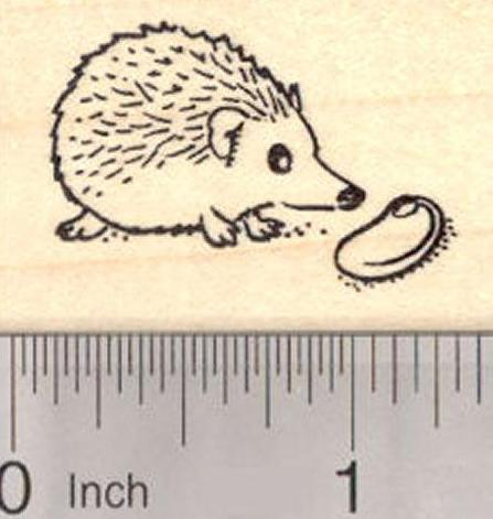 Easter Hedgehog with Jelly Bean Rubber Stamp