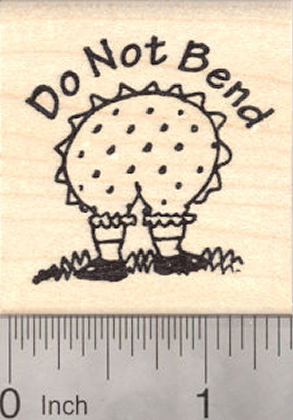 Do Not Bend Rubber Stamp, Gardening Woman