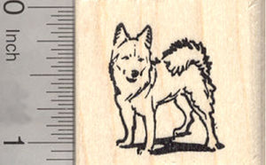 Icelandic Sheepdog Rubber Stamp, Working Dog Breed