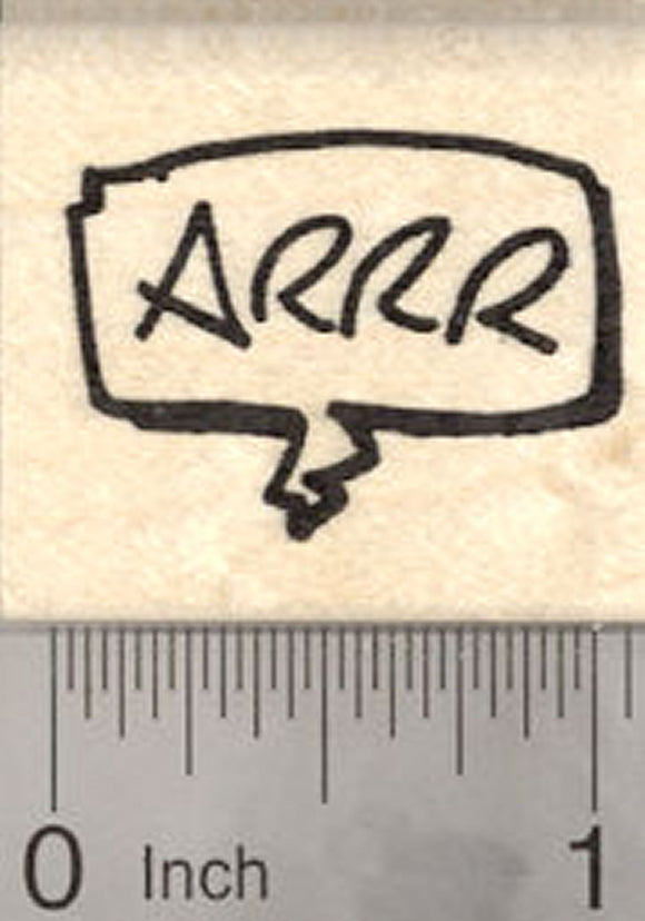 Arrr, Pirate Saying Rubber Stamp, Speech Balloon