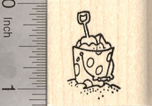 Small Sand Pail Rubber Stamp, Beach Themed Stamps