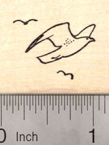 Sea Gull Rubber Stamp, Beach Themed Stamps, Seagull bird