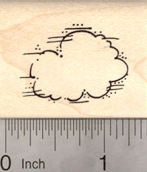 Cloud Rubber Stamp, Meterology, Great for Weather Scenes