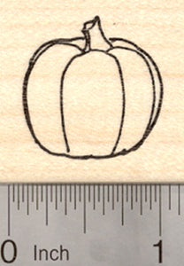 Pumpkin Rubber Stamp, Halloween or Fall Vegetable