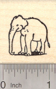 Asian Elephant Rubber Stamp, Small