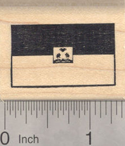 Flag of Haiti Rubber Stamp, Haitian Coat of Arms