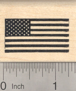United States of America Flag Rubber Stamp