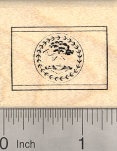 Flag of Belize Rubber Stamp, Central America, British Honduras