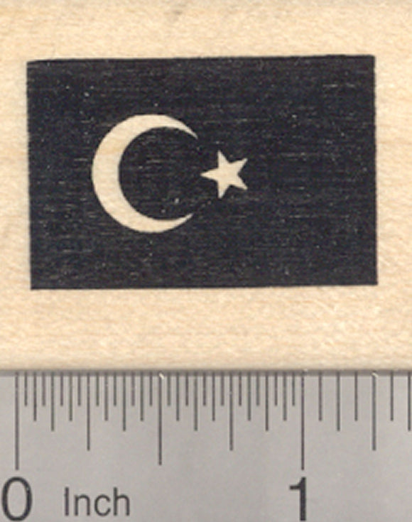 Flag of Turkey Rubber Stamp