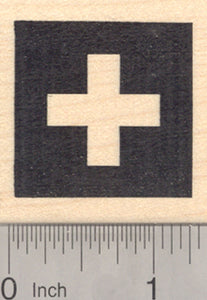 Flag of Switzerland Rubber Stamp, Swiss Confederation