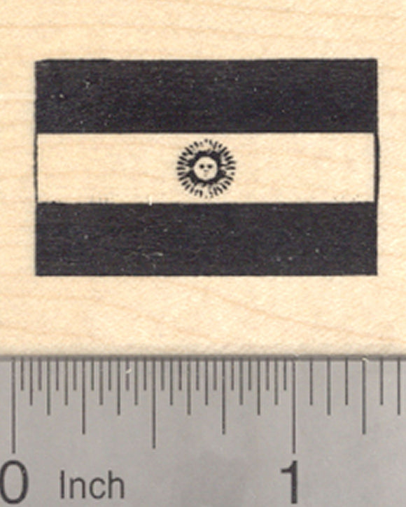 Flag of Argentina Rubber Stamp, Argentine Republic, South America