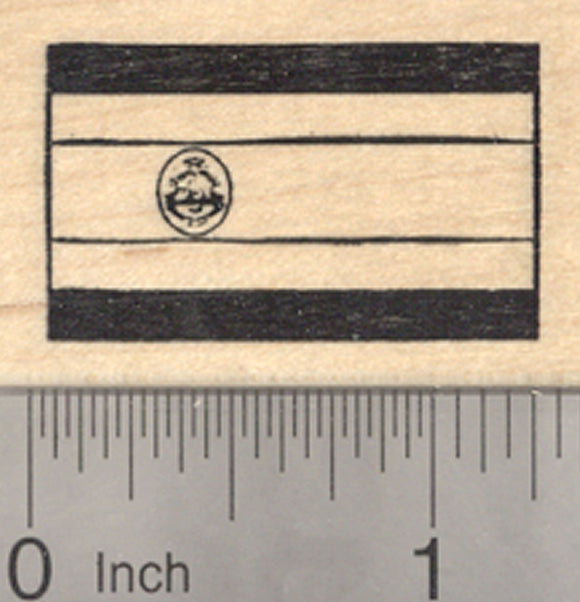 Flag of Costa Rica Rubber Stamp, Central America