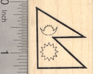 Flag of Nepal Rubber Stamp, South Asia