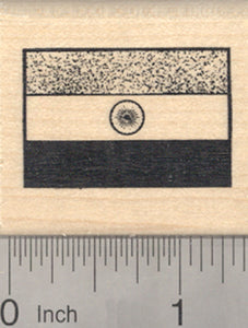 Flag of India Rubber Stamp, South Asia