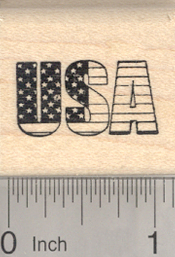 USA Rubber Stamp, United States of America Flag