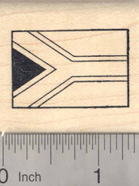 Flag of Republic of South Africa Rubber Stamp