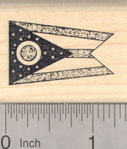 Flag of Ohio Rubber Stamp, United States of America