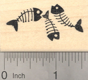 Fish Bones Rubber Stamp, Cat Theme