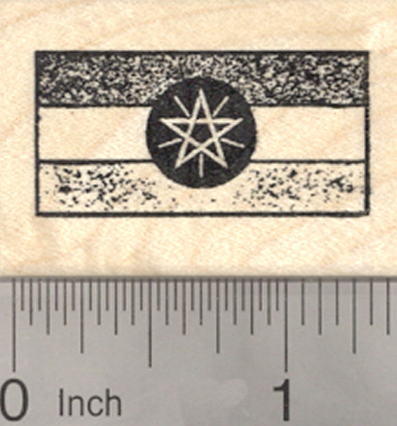 Flag of Ethiopia Rubber Stamp